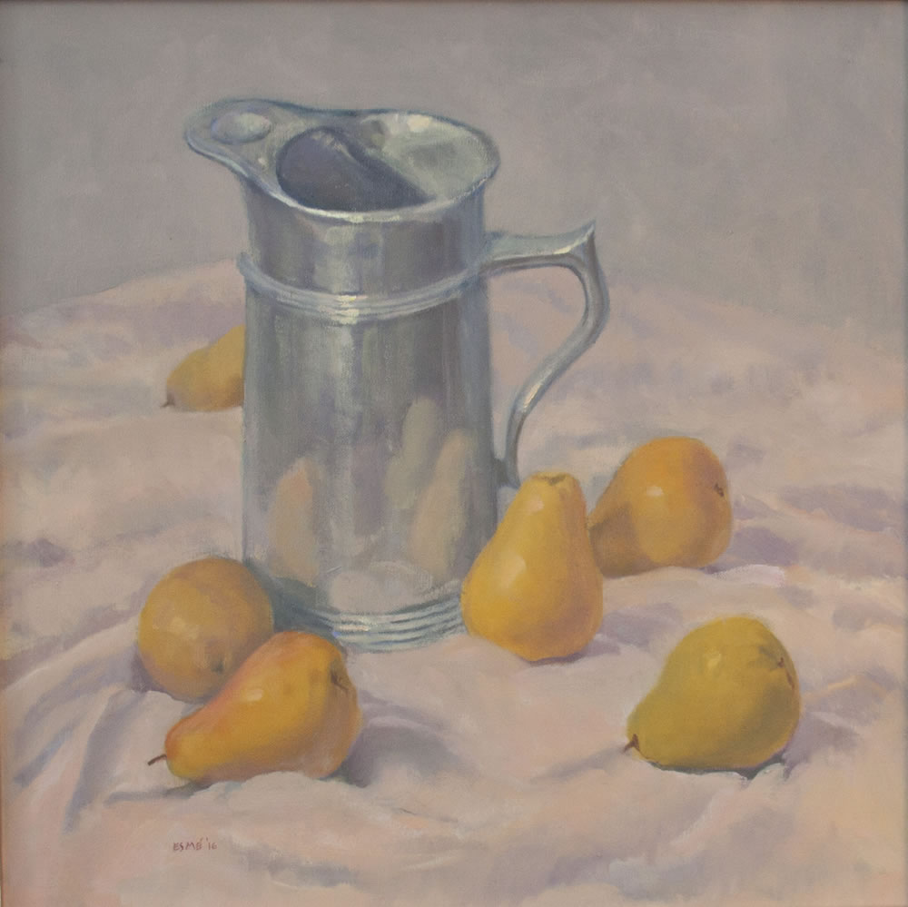 Pears and a Pewter Pitcher