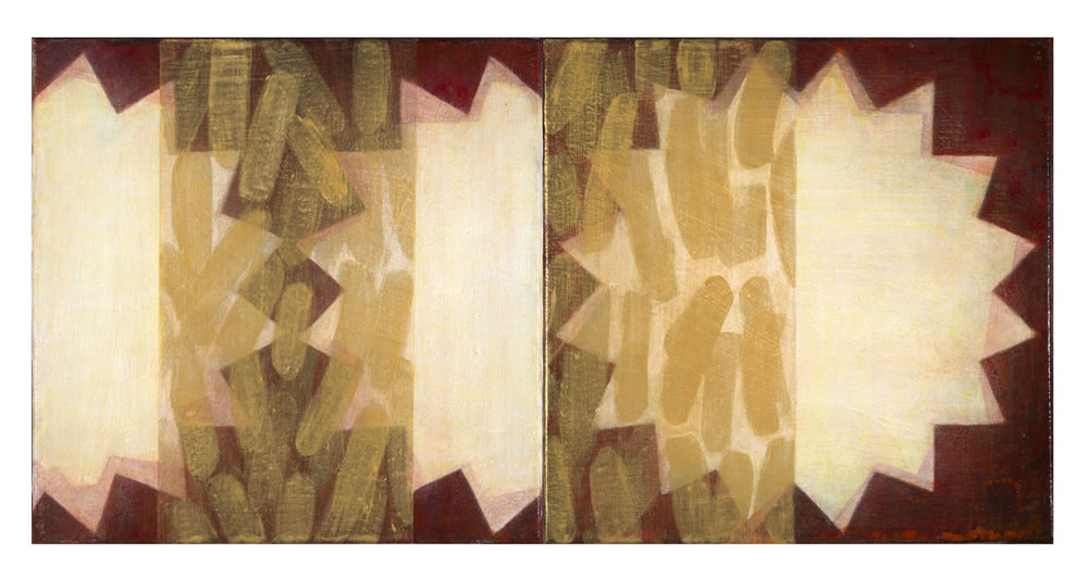 Red Interruption Sequence  (Diptych)