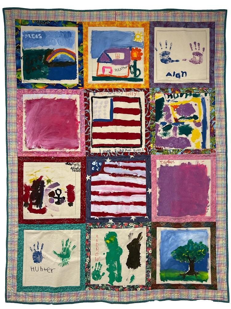 Freedom Quilt - children art squares